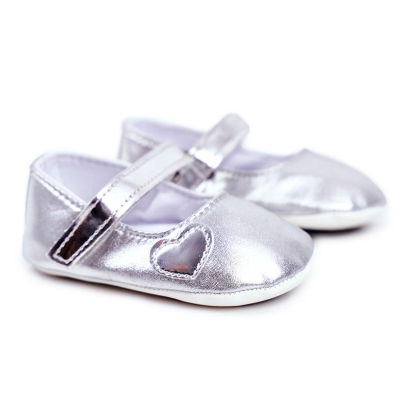 Apawwa Taufe Baby Klettverschluss Turnschuhe Bellawa Silber grau