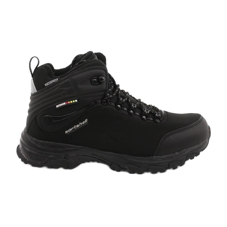 American Club Amerikanische Trekking-Softshell-Stiefel mit Membran schwarz