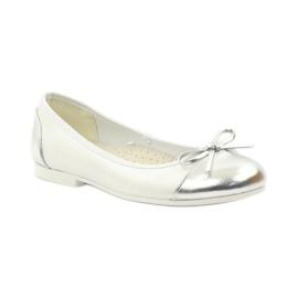 American Club Ballerinas Schuhe mit einem amerikanischen Bogen weiß 1