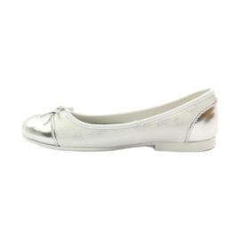 American Club Ballerinas Schuhe mit einem amerikanischen Bogen weiß 2