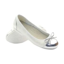American Club Ballerinas Schuhe mit einem amerikanischen Bogen weiß 3