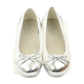 American Club Ballerinas Schuhe mit einem amerikanischen Bogen weiß 4
