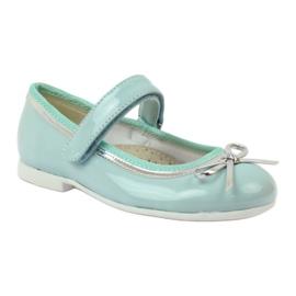 American Club Ballerinas Schuhe mit einem amerikanischen Bogen grün 1