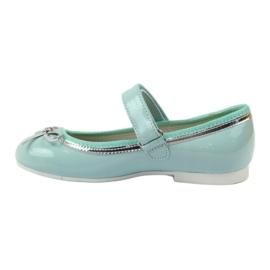 American Club Ballerinas Schuhe mit einem amerikanischen Bogen grün 2