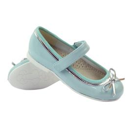 American Club Ballerinas Schuhe mit einem amerikanischen Bogen grün 3