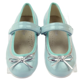 American Club Ballerinas Schuhe mit einem amerikanischen Bogen grün 4