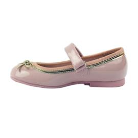 American Club Ballerinas Schuhe mit einem amerikanischen Bogen pink 2