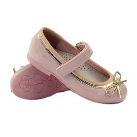 American Club Ballerinas Schuhe mit einem amerikanischen Bogen pink 3