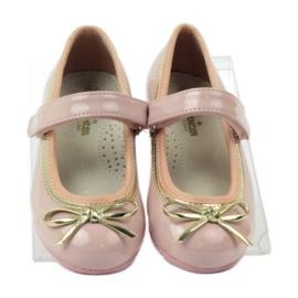 American Club Ballerinas Schuhe mit einem amerikanischen Bogen pink 4