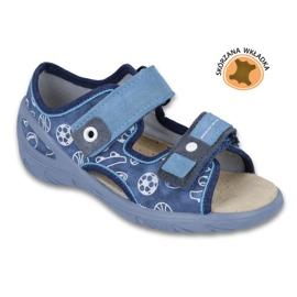 Befado Kinderschuhe PU 065X118 blau 1