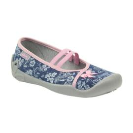 Hausschuhe Blumen Befado 116y232 Jeans 1