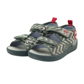 American Club graue Kindersandalen TEN36 3