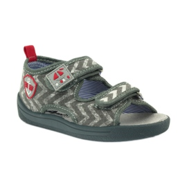 American Club graue Kindersandalen TEN36 1