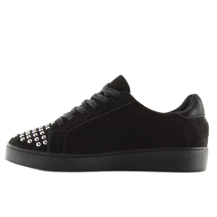 de690f98daa4 Schwarze Damen Sneakers G253 Schwarz