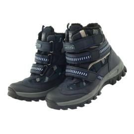 American Club Amerikanische Stiefel Stiefeletten Winterstiefel 87433 marineblau 3