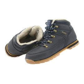 American Club Amerikanische Stiefel Winterstiefel 152619 marineblau 4