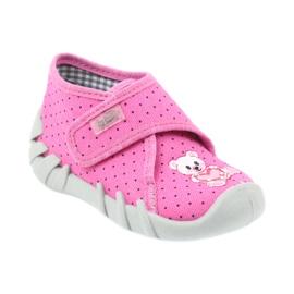 Befado Kinderschuhe 112P185 Hausschuhe pink 2