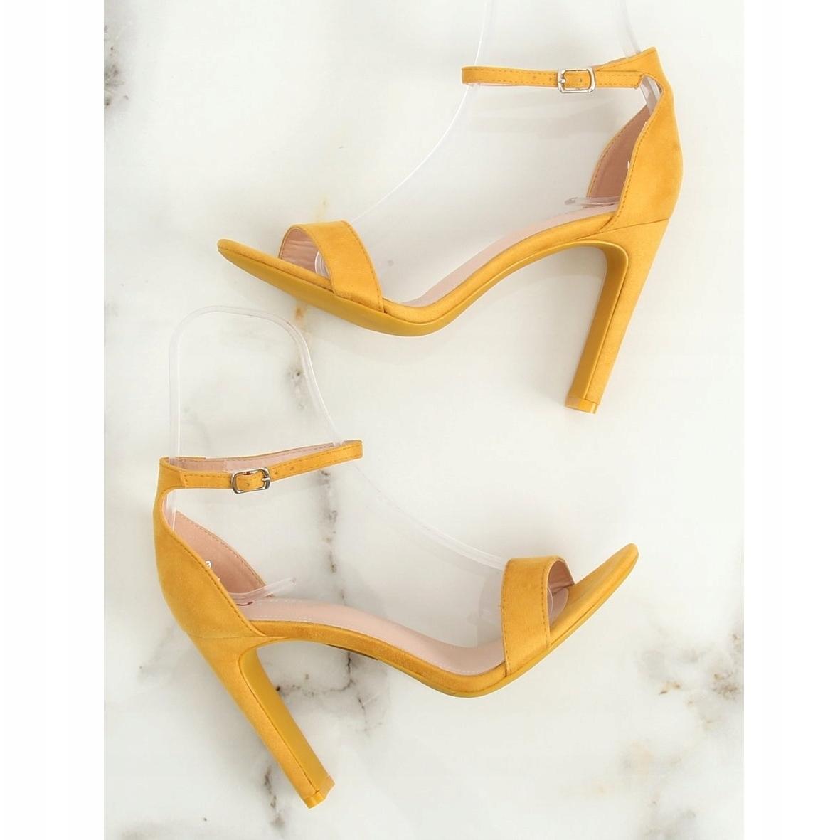 Nf Hohem Gelbe Gelb Sandaletten Absatz 37p Mit nXNw80PkO