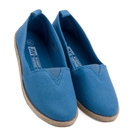 Kinder Espadrilles blau 1