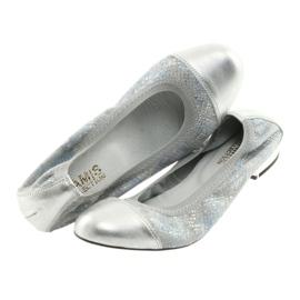Ballerinki Damen Radiergummi Gamis 1402 Silber 4