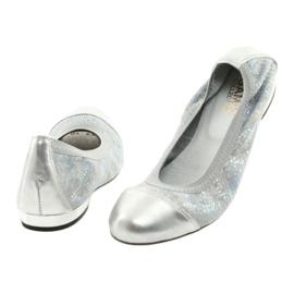 Ballerinki Damen Radiergummi Gamis 1402 Silber 3