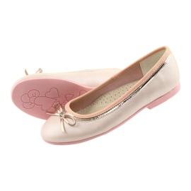 Ballerinas mit einer Schleife rosa Perle American Club GC14 / 19 4
