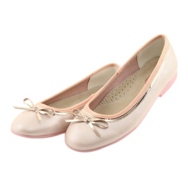 Ballerinas mit einer Schleife rosa Perle American Club GC14 / 19 3