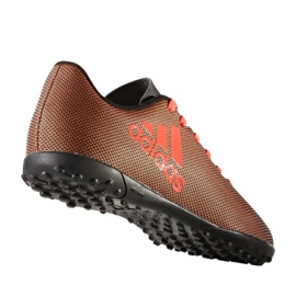 Fußballschuhe adidas X 17,4 Tf Jr S82422 orange schwarz, orange 1