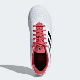 Adidas Predator Tango 18.4 In Jr CP9103 Indoor-Schuhe weiß weiß, rot 2