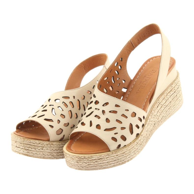 Braun Sandalen mit Keilabsatz Badura 4812 beige Bild 3