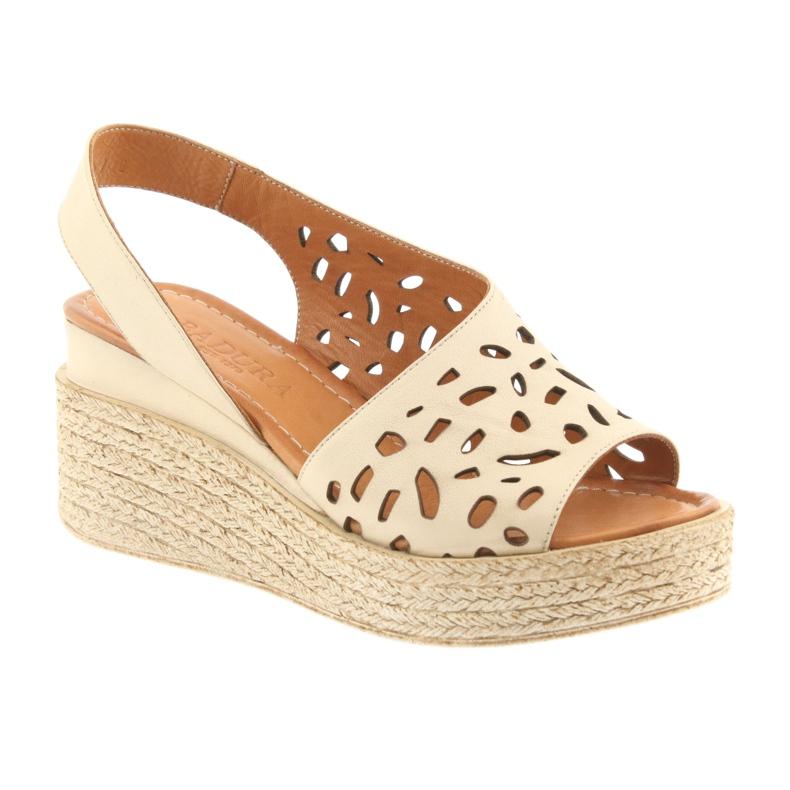 Braun Sandalen mit Keilabsatz Badura 4812 beige Bild 1