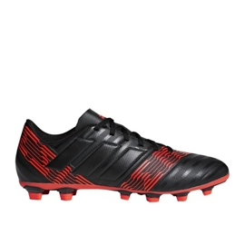 Fußballschuhe adidas Nemeziz 17.4 FxG M CP9006 schwarz, rot schwarz 1