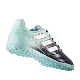 Fußballschuhe adidas Ace 17,4 Tf Jr S77121 schwarz, blau blau 1