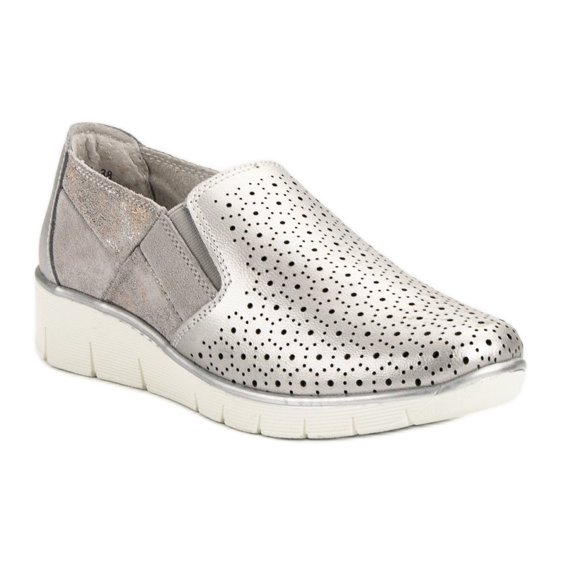 separation shoes eb5be f2e54 Filippo grau Silberne Slip-On-Schuhe