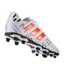 Fußballschuhe adidas Nemeziz Messi 17.4 FxG M S77199 weiß, orange weiß 1