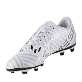 Fußballschuhe adidas Nemeziz Messi 17.4 FxG M S77199 weiß, orange weiß 3