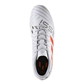 Fußballschuhe adidas Nemeziz Messi 17.4 FxG M S77199 weiß, orange weiß 4