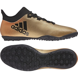 Fußballschuhe adidas X Tango 17.3 Tf M CP9135 gold, schwarz gold 1