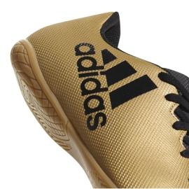 Indoor-Schuhe adidas X Tango 17.4 In M CP9149 gold, schwarz gold 2