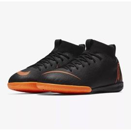 Hallenschuhe Nike Mercurial SuperflyX 6 Academy Gs Ic Jr AH7343-081 orange schwarz 3