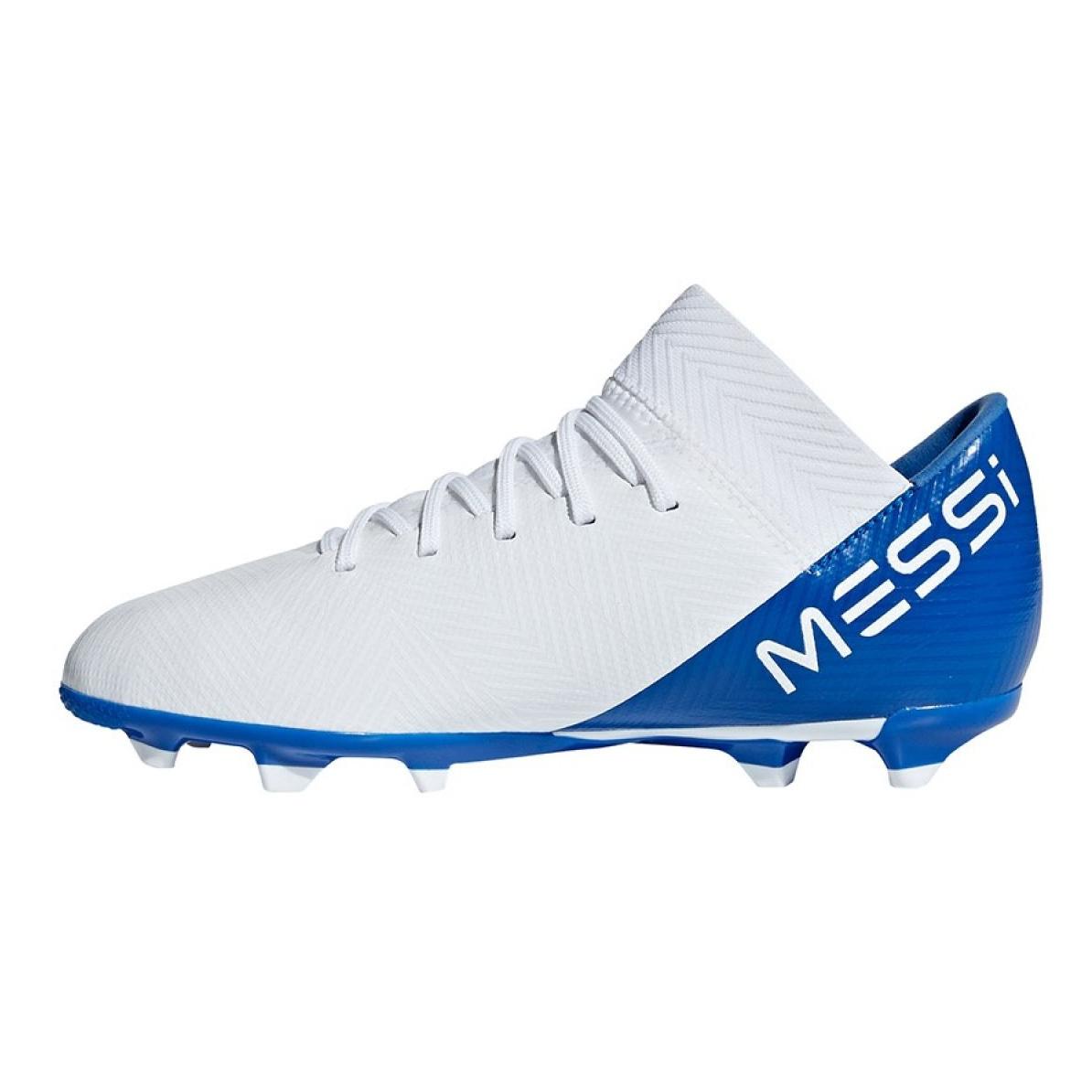 Fussballschuhe Adidas Nemeziz Messi 18 3 Fxg Jr Db2364 Weiss Weiss