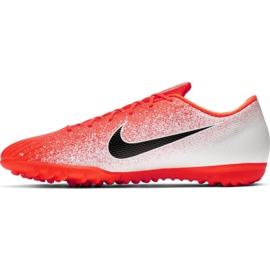 Nike Mercurial Vapor X 12 Academy Tf M AH7384-801 Fußballschuhe weiß weiß, orange 2