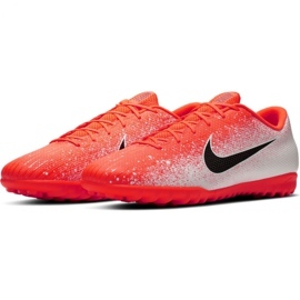 Nike Mercurial Vapor X 12 Academy Tf M AH7384-801 Fußballschuhe weiß weiß, orange 3