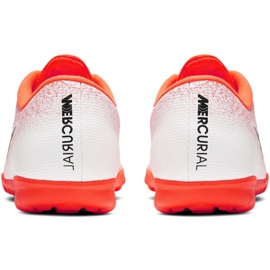 Nike Mercurial Vapor X 12 Academy Tf M AH7384-801 Fußballschuhe weiß weiß, orange 4