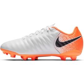 Fußballschuhe Nike Tiempo Legend 7 Academy Mg Jr AO2291-118 weiß weiß, orange 1