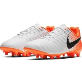 Fußballschuhe Nike Tiempo Legend 7 Academy Mg Jr AO2291-118 weiß weiß, orange 3