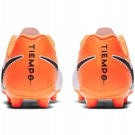 Fußballschuhe Nike Tiempo Legend 7 Academy Mg Jr AO2291-118 weiß weiß, orange 4