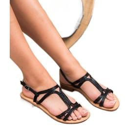 SHELOVET Sandalen in den Fersen schwarz 1