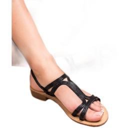SHELOVET Sandalen in den Fersen schwarz 3