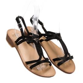 SHELOVET Sandalen in den Fersen schwarz 2